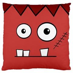 Halloween Frankenstein - Red Standard Flano Cushion Case (One Side)