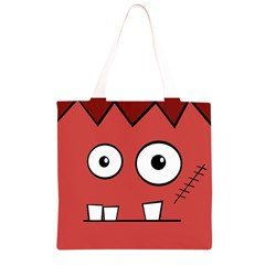 Halloween Frankenstein - Red Grocery Light Tote Bag