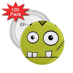 Halloween Frankenstein -Yellow 2.25  Buttons (100 pack)