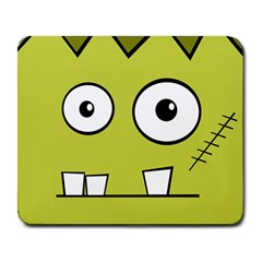 Halloween Frankenstein -Yellow Large Mousepads