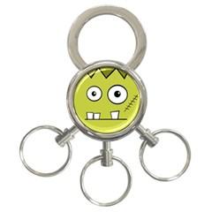 Halloween Frankenstein -Yellow 3-Ring Key Chains