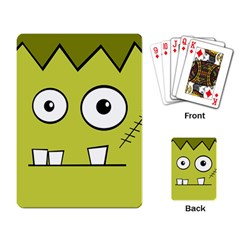 Halloween Frankenstein -Yellow Playing Card