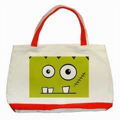 Halloween Frankenstein -Yellow Classic Tote Bag (Red)