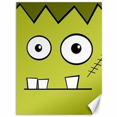 Halloween Frankenstein -Yellow Canvas 36  x 48