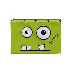 Halloween Frankenstein -Yellow Cosmetic Bag (Medium)