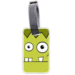 Halloween Frankenstein -Yellow Luggage Tags (Two Sides)