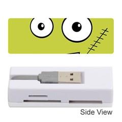 Halloween Frankenstein -Yellow Memory Card Reader (Stick)
