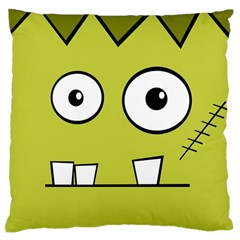 Halloween Frankenstein -Yellow Large Cushion Case (Two Sides)