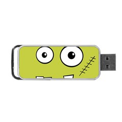 Halloween Frankenstein -Yellow Portable USB Flash (Two Sides)