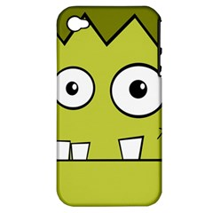 Halloween Frankenstein -Yellow Apple iPhone 4/4S Hardshell Case (PC+Silicone)