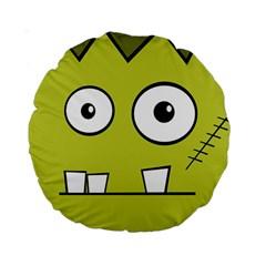 Halloween Frankenstein -Yellow Standard 15  Premium Round Cushions
