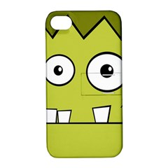 Halloween Frankenstein -Yellow Apple iPhone 4/4S Hardshell Case with Stand