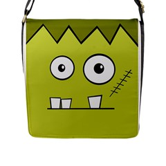 Halloween Frankenstein -Yellow Flap Messenger Bag (L)