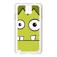 Halloween Frankenstein -Yellow Samsung Galaxy Note 3 N9005 Case (White)