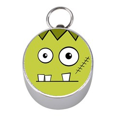 Halloween Frankenstein -Yellow Mini Silver Compasses