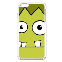 Halloween Frankenstein -Yellow Apple iPhone 6 Plus/6S Plus Enamel White Case