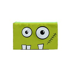 Halloween Frankenstein -Yellow Cosmetic Bag (XS)