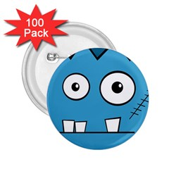 Halloween Frankenstein - Blue 2.25  Buttons (100 pack)