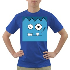 Halloween Frankenstein - Blue Dark T-Shirt
