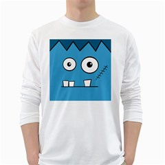 Halloween Frankenstein - Blue White Long Sleeve T-Shirts