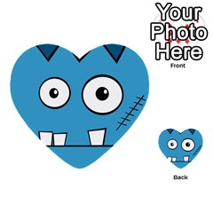 Halloween Frankenstein - Blue Multi-purpose Cards (Heart)