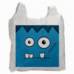 Halloween Frankenstein - Blue Recycle Bag (Two Side)