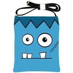 Halloween Frankenstein - Blue Shoulder Sling Bags