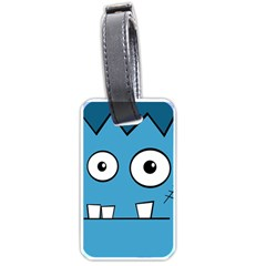 Halloween Frankenstein - Blue Luggage Tags (One Side)