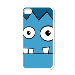 Halloween Frankenstein - Blue Apple iPhone 4 Case (White)