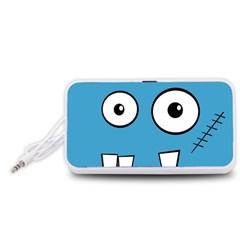 Halloween Frankenstein - Blue Portable Speaker (White)