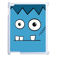 Halloween Frankenstein - Blue Apple iPad 2 Case (White)
