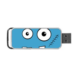 Halloween Frankenstein - Blue Portable USB Flash (Two Sides)