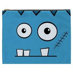 Halloween Frankenstein - Blue Cosmetic Bag (XXXL)