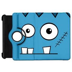Halloween Frankenstein - Blue Kindle Fire HD Flip 360 Case