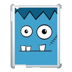 Halloween Frankenstein - Blue Apple iPad 3/4 Case (White)
