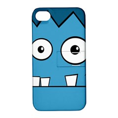 Halloween Frankenstein - Blue Apple iPhone 4/4S Hardshell Case with Stand