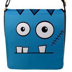 Halloween Frankenstein - Blue Flap Messenger Bag (S)