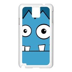 Halloween Frankenstein - Blue Samsung Galaxy Note 3 N9005 Case (White)