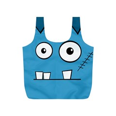 Halloween Frankenstein - Blue Full Print Recycle Bags (S)