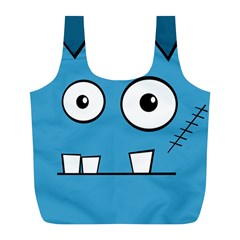 Halloween Frankenstein - Blue Full Print Recycle Bags (L)