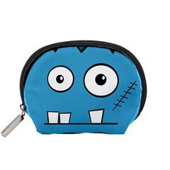 Halloween Frankenstein - Blue Accessory Pouches (Small)
