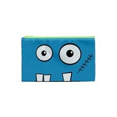 Halloween Frankenstein - Blue Cosmetic Bag (XS)