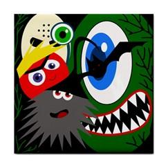 Halloween monsters Tile Coasters