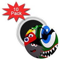 Halloween monsters 1.75  Magnets (10 pack)