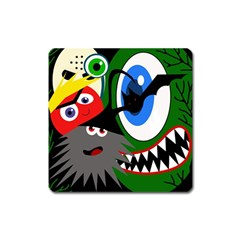 Halloween monsters Square Magnet