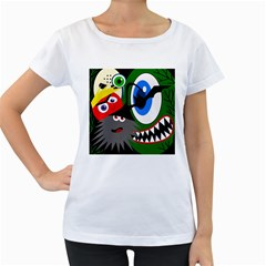 Halloween monsters Women s Loose-Fit T-Shirt (White)