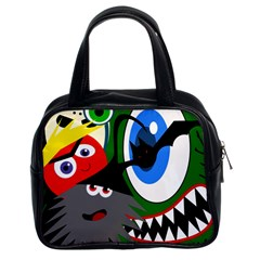 Halloween monsters Classic Handbags (2 Sides)