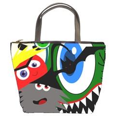 Halloween monsters Bucket Bags
