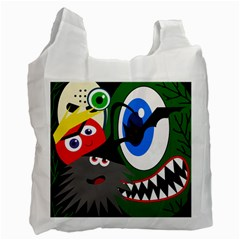 Halloween monsters Recycle Bag (Two Side)