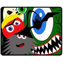 Halloween monsters Fleece Blanket (Medium)